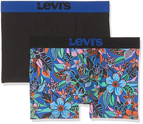 Levi's Levis 200sf Wiggly Flower Boxer Brief 2p, Azul (Blue 056), Small (Pack de 2) para Hombre