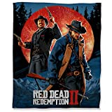R-ed Dead Redemption 2 Luxury Microfiber Blanket 40' x 50', Cowboy Game Art Fuzzy Flannel Blanket Throw for Couch Sofa Bed