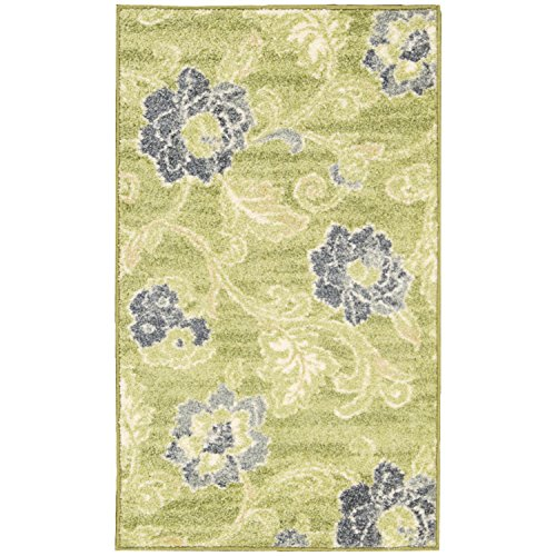 Nourison Wav02/Aura Of Flora (AOF02) Wasabi Rectangle Area Rug, 7-Feet 9-Inches by 9-Feet 9-Inches (7'9' x 9'9')