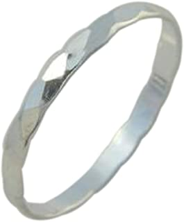 California Toe Rings Women's Sterling Silver Faceted Fitted Sized Midi Above The Knuckle Toe Ring