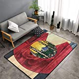 NiYoung Bedroom Livingroom Sitting-Room King Size Kitchen Rugs Home Decor - Wooden Colorado State Flag Doormat Floor Mat Fast Dry Toilet Bath Rug Exercise Mat Throw Rugs Runner
