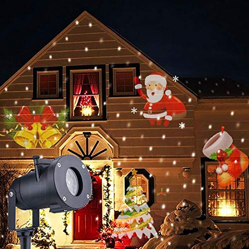 YL Christmas Holiday Projector Lights, Bright Led Landscape Spotlight Christmas Projector Light Outdoor, is Best for Outdoor/Indoor Party Landscape Garden Halloween Home Birthday Party Decoration