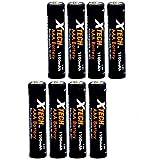 Xtech AAA Ultra High-Capacity 1100mah Ni-MH Rechargeable Batteries (8...
