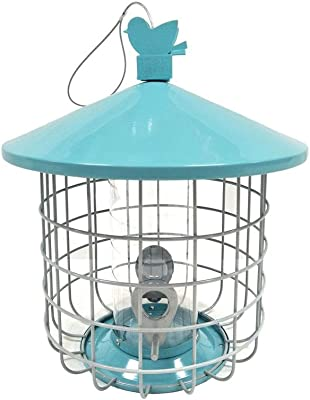 Rnwen Bird Feeder Simple and Easy to Clean Metal Hanging Hardware Iron Birdfeeder Easy to Install Feeders (Color : Multi-Colored, Size : Free Size)