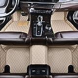 HzvtCtarmsu Alfombrilla para el Piso del Coche Juego de Alfombrillas Delanteras y traseras Cuero Mejorado Personalizado para Chrysler 300C Grand Voyager Sebring Impermeable Resistente a los arañazos