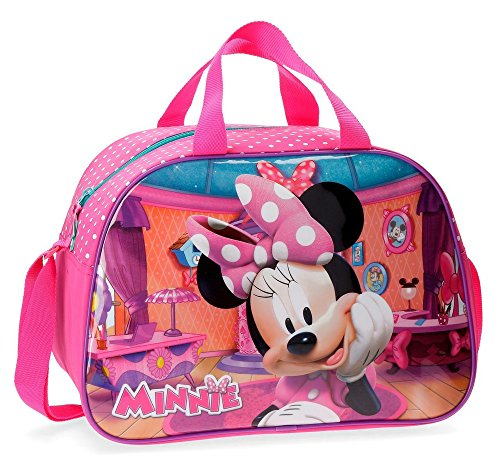 Disney Minnie Smile Bolsa de Viaje, 40 cm, 24.64 litros, Rosa