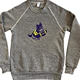 University of Washington Husky Pup Fleece Crewneck Sweatshirt - Made with Durable Eco-Fleece Polyester and Cotton - UW Huskies Unisex Crewneck Sweatshirt is Great for men and women