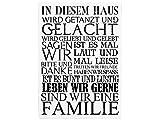 Interluxe 42x30cm XXL Vintage Shabby Holzschild IN DIESEM Haus Dekoschild Geschenk Einzug