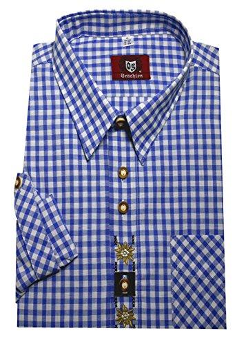 Orbis Textil Trachtenhemd blau-weiß XXXXXL