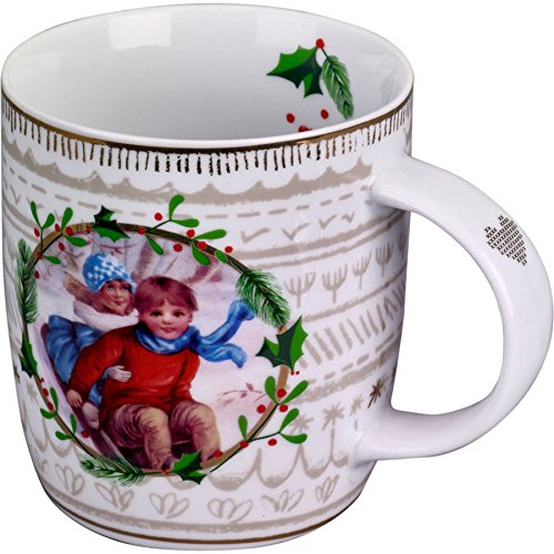 Spiegelburg 12592 Porzellan-Tasse Nostalgie Frohe Weihnacht überall!
