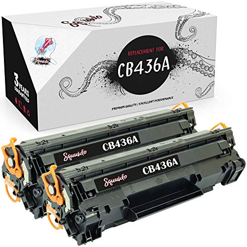 Squuido 2 Cartuchos de tóner CB436A compatibles para HP Laserjet P1505 P1505N P1506 MFP M1120 M1120N M1520 M1522 M1522N M1522NF Canon LBP-3250 | Alto Rendimiento 2000 páginas