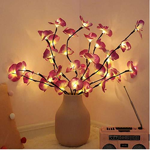 Winnes LED Zweig Lampe, 20 LEDs dekorative Lichterkette Licht Batterie aufgeladen für Home Room Decoration Weihnachtstag (lila 3 Stück)