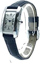 (カルティエ)CARTIER WSTA0032 タンクアメリカン ミニ レディース腕時計 腕時計 SS×革ベルト レディース 中古