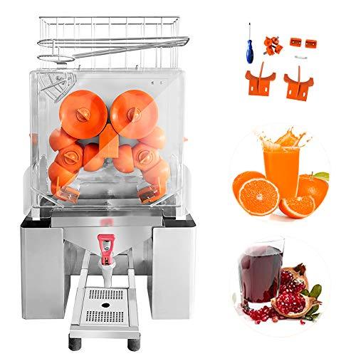 Minocool Pro Commercial Juicer, 110V 120W Automatic Commercial Orange Juicer Machine with Faucet Electric Juice Squeezer Lemonade Making Machine for Fresh Fruit Vegetable, 20 pcs/min