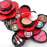 Pure Vie® Multicolor fard à paupières correcteur et fard à joues maquillage cosmétique mis en Palette rouge à lèvres - Convient Parfaitement pour une Utilisation Professionnelle ou à la Maisons