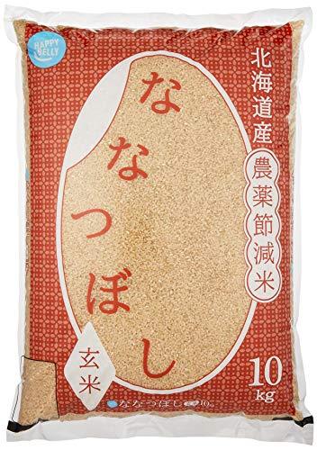 スマートマットライト [Amazonブランド] Happy Belly 玄米 北海道産 農薬節減米ななつぼし 10kg