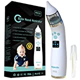 Electric Baby Nasal Aspirator USB Rechargeable - Nose Cleaner with 4 Silicone Tips (2 Diff...