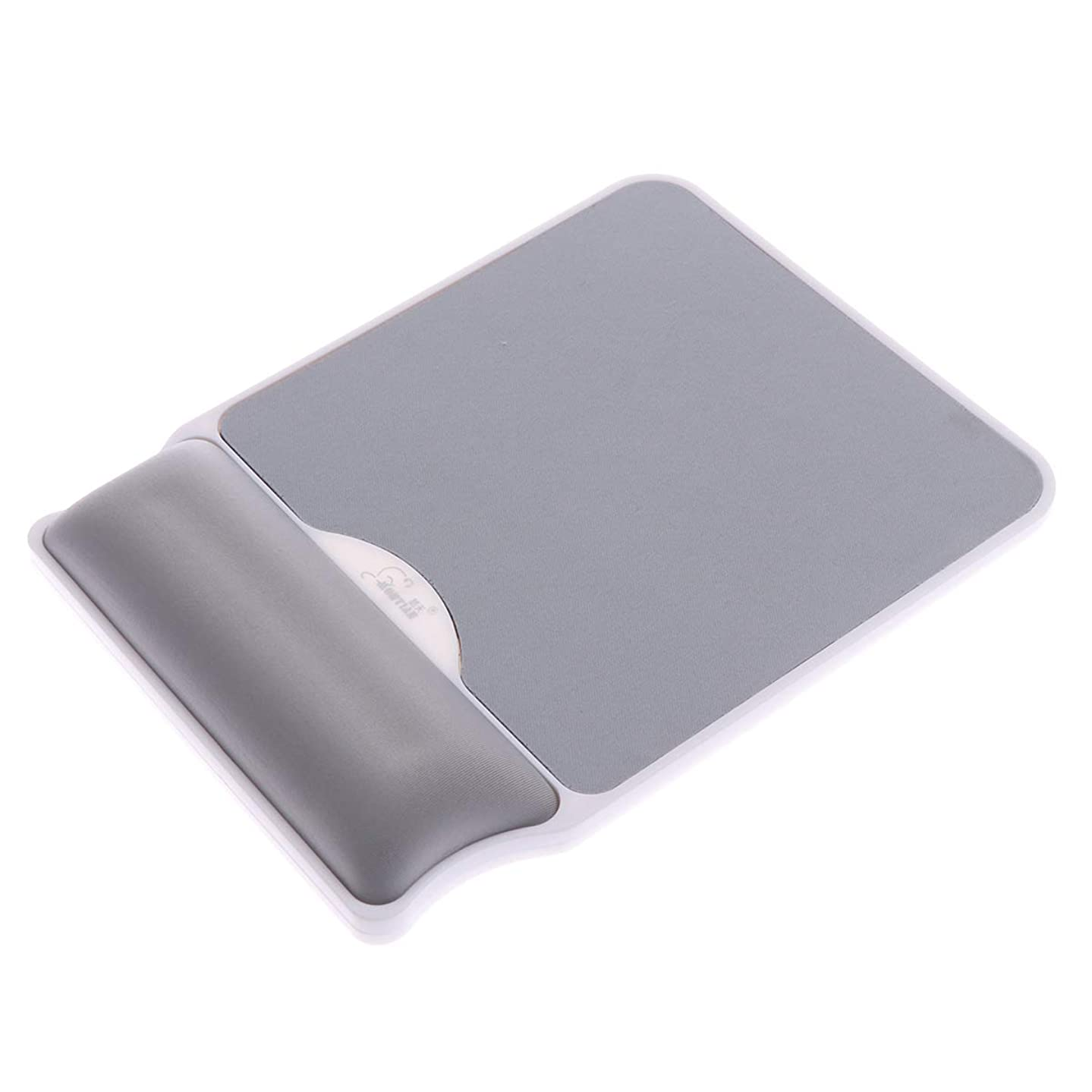 OSALADI Slow Rebound Memory Foam Cushion Wrist Rest Mouse Pad for Game Office (Silver Grey)