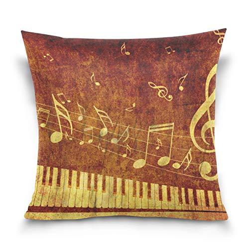 JinDoDo - Funda de almohada cuadrada para sofá, coche, dormitorio, 40,6 x 40,6 cm