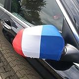 Spiegelflagge/Spiegelfahne FRANKREICH 1 Paar, Auto/PKW Rückspiegel/Autospiegel Fahne/Flagge/Überzug