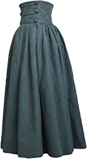 Women Medieval Pleated Swing High Waist Renaissance Casual Skirts
