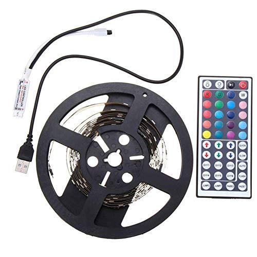 YAeele Tiras de LED, 2 Piezas de 50CM el 100CM 5050 Cadena de luz 5V DC USB Powered RGB Cambio del Color del LED Tira Ordenador PC TV Kit de luz de Fondo