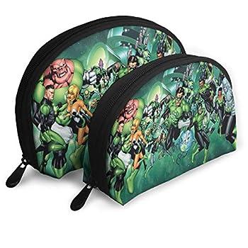 Cartoon G-reen Lan-tern Shell Storage Bag Portable Bags Clutch Pouch Unisex Travel Toiletry Bag Coin Purse Handbag Organizer With 2pcs
