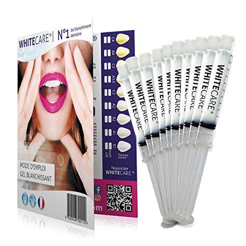 White Care - Zahnaufhellungs-Kit der Generation mit 100mlGel (10 Tuben à 10ml) - ohne Peroxid - 100 %ig nach französischen NF-Normen - bessere Tiefenwirkung als...