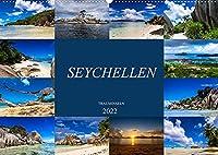 Trauminseln Seychellen (Wandkalender 2022 DIN A2 quer): Paradies auf Erden - Seychellen (Monatskalender, 14 Seiten )