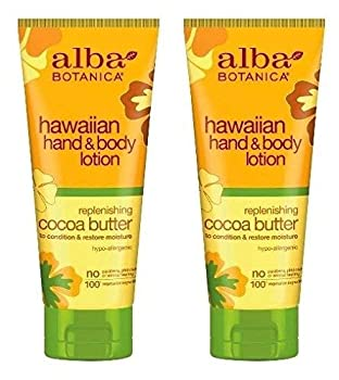 Hawaiian Hand and Body Lotion Cocoa Butter  Pack of 2  With Aloe Shea Butter Sunflower Seed Oil Linseed Oil Jojoba Oil Cocoa Butter Pineapple and Ginger 7 fl oz Each