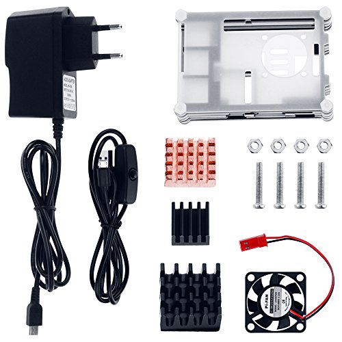 Zacro 5-EN-1 Kit para Raspberry Pi 3 y 2, Caja de 9 Capas de Refrigeración +...