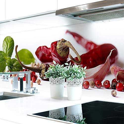 Küchenrückwand Gewürz Mix Premium Hart-PVC 0,4 mm selbstklebend - Direkt auf die Fliesen, Größe:Materialprobe A4