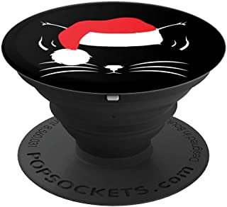Christmas Cat Santa Kitten Cute PopSockets Grip and Stand for Phones and Tablets