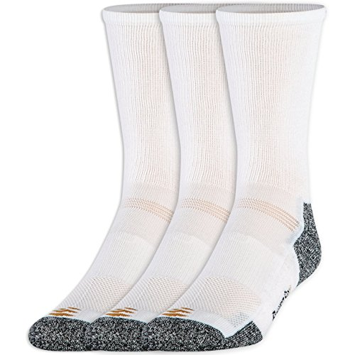 Gold Toe Men's Powerlites Crew Sock (2 PK (6PAIRS)Large(Shoe Size 9-12.5), White)