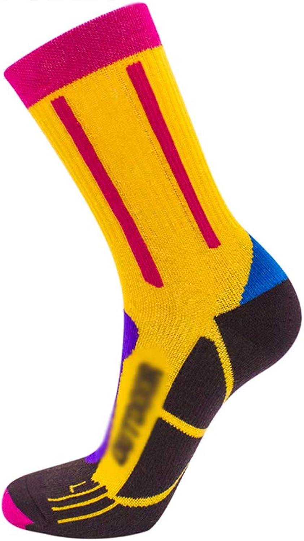 Elite Professional Ladies Ski Socks Wool Warm Sports Socks Moisture Wicking AntiFatigue Hiking Socks (color   A(2pairs), Size   One Size)