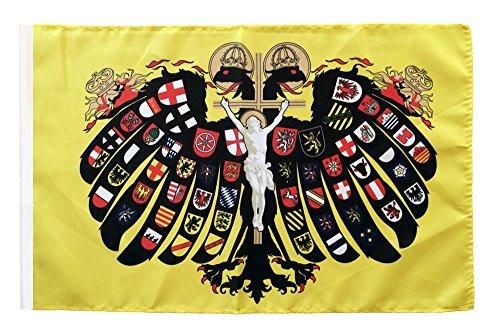 Flaggenfritze Flagge/Fahne Heiliges Römisches Reich Deutscher Nation Quaterionenadler + gratis Sticker