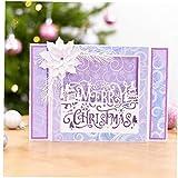 Corte Metal Feliz Navidad Árbol Navidad Craft para Scrapbooking...