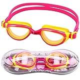 Winline Gafas de natación para niños Edad 6–12 (Pink&Yellow)