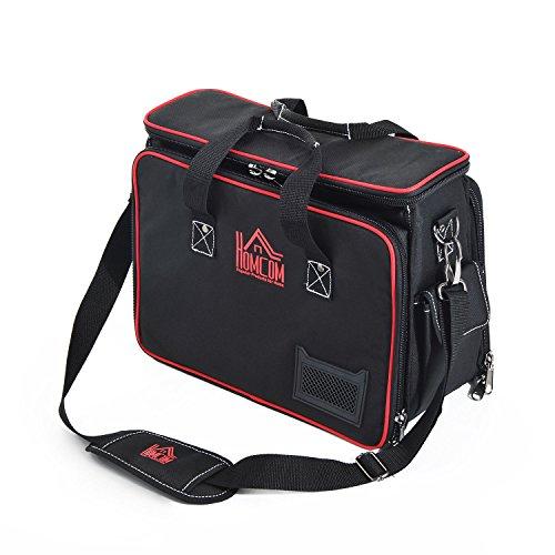 HOMCOM Werkzeugtasche Werkzeugkoffer Wergzeug Tasche mit Schultergurt