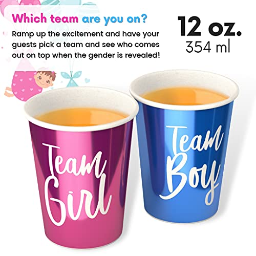 Team Boy Team Girl Gender Reveal Cups