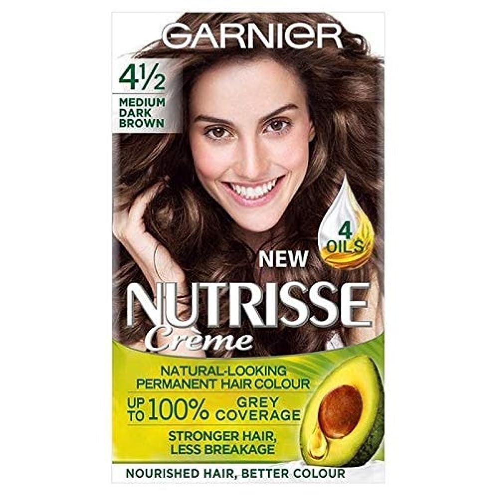 可聴ポンド徹底的に[Garnier ] ガルニエNutrisseパーマネント染毛剤中ダークブラウン4 1/2 - Garnier Nutrisse Permanent Hair Dye Medium Dark Brown 4 1/2 [並行輸入品]