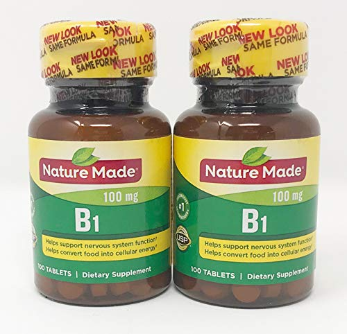 Nature Made Vitamin B-1 100 mg Tablets - 100 ct, Pack of 2