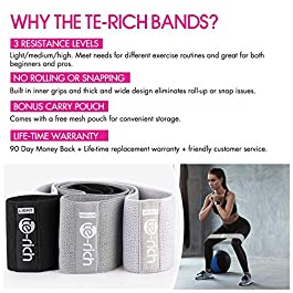 Te-Rich Resistance Bands for Legs and Butt, Fabric Workout B...