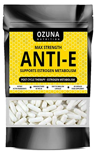 Max Strength Anti-E - PCT Supplement - Anti-Estrogen - Max Strength Formula - Suitable for Vegetarians - 60 Capsules