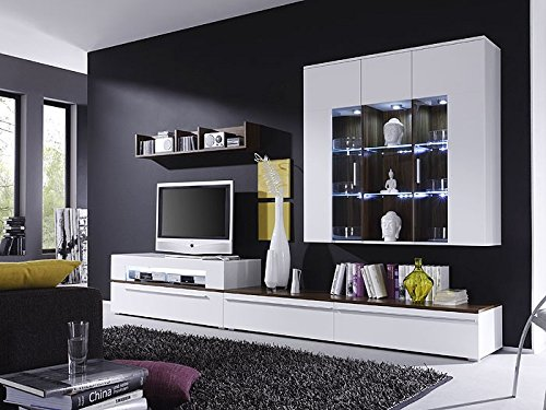 Expendio 44848249 Wohnwand, MDF/Spannplatte, weiß, 47 x 312 x 190 cm - 6