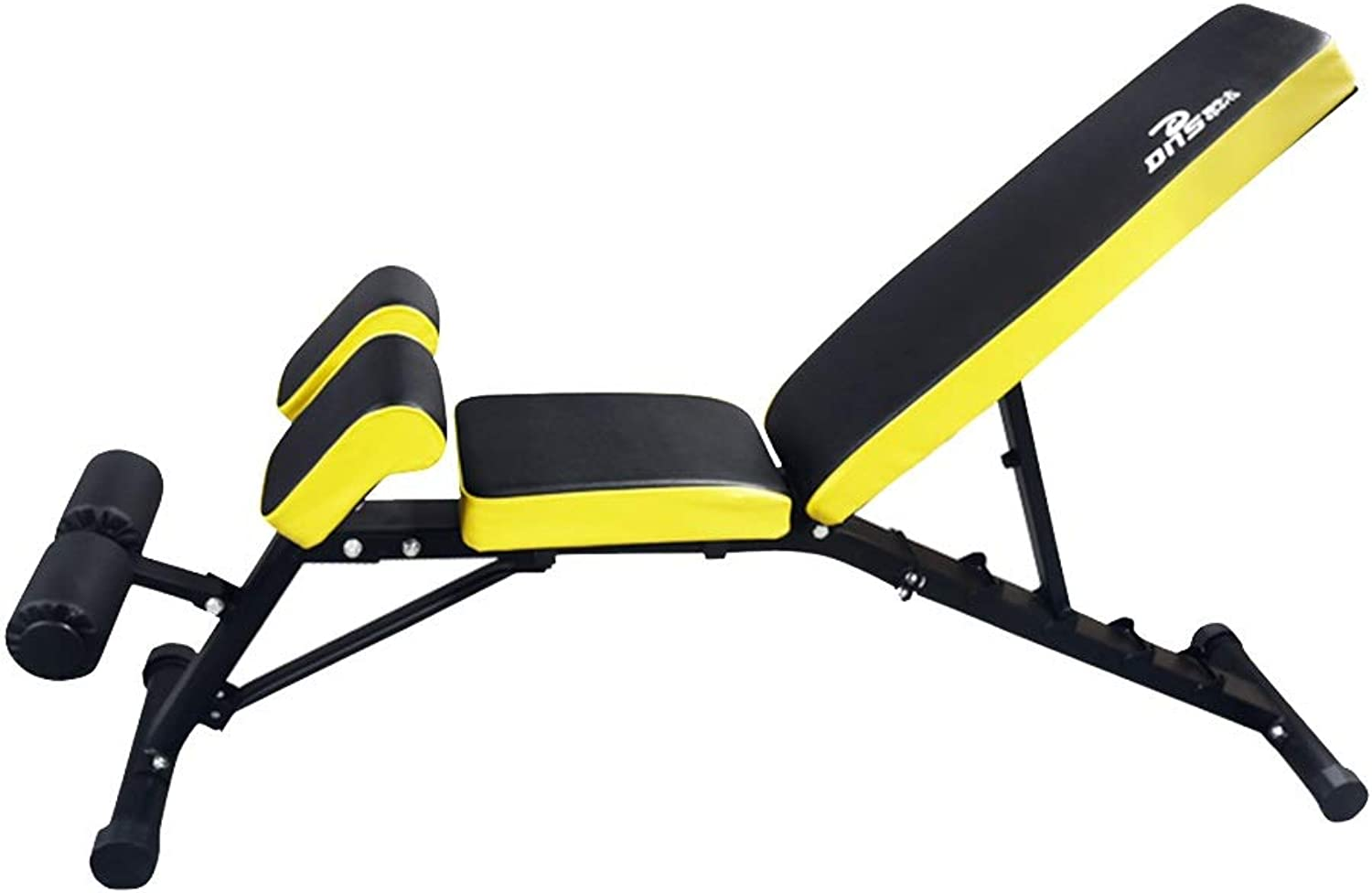 Adjustable Benches Foldable Weight Bench Bench Press LoadBearing 300kg Adjustable Abdominal Muscles Fitness Equipment Gym Benches (color   Yellow, Size   155  40  47cm)
