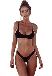 Bikinis Mujer 2019 Brasileños Bañador Ropa de Baño Push Up Dos Piezas con Relleno Traje de Baño de Tubo Color Liso