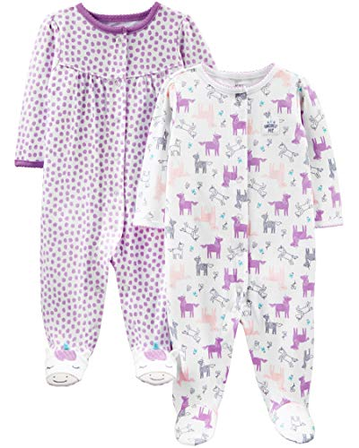 Simple Joys by Carter's Baby- und Kleinkind-Schlafanzug Infant-and-Toddler-Bodysuit-Footies, Lila Einhorn, 6-9 Months