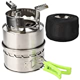 Rosvola Gas Stove, Windproof Stove BBQ Cooker Backpacking Stove, Cooking Picnic for Camping Outdoor
