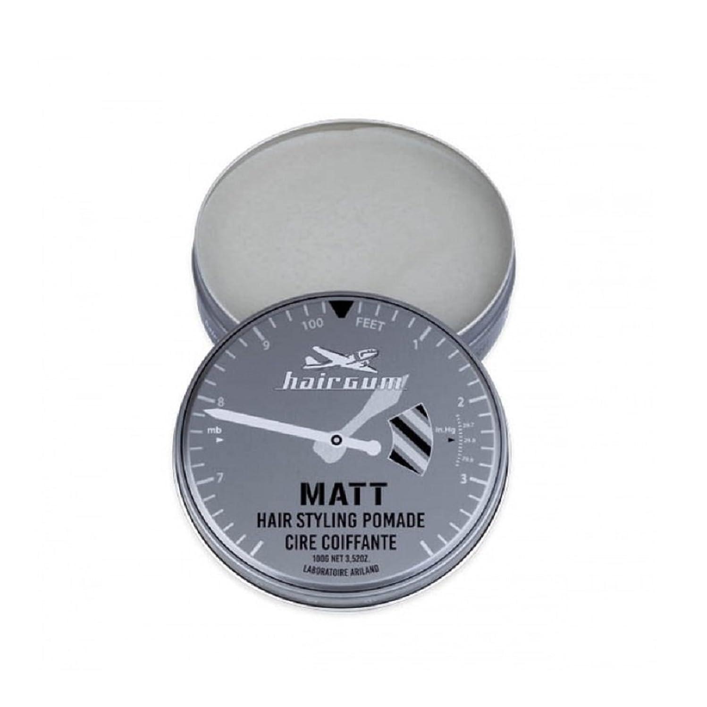 つらいはげ恩恵hairgum(ヘアガム) Matt Pomade 100g ヘアガム マット 油性 ポマード グリース